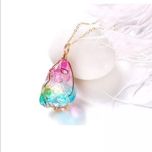 Chakra Healing Rainbow Quarz Necklace